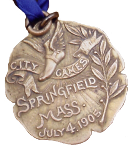 Howard Drew's actual gold medal from Springfield City Games, July 4 1905